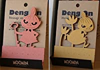 ムーミン Deng On【キーボードのすき間に立てる伝言メモ】20枚綴 2種組 リトルミイ ピンク/オレンジ