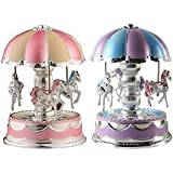 Chinatera LED Light Merry-Go-Round Music Box Christmas Birthday Gift Toy Carousel