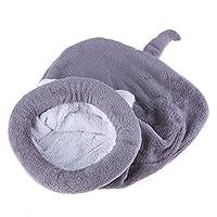 ペットマット ペットクッション 冬 暖かいフリース かわいい 猫の寝袋 子犬 猫 ベッドケンネルハウス Amiu
