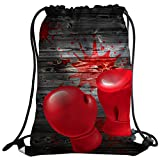 メンズ 水着 sxchenジムバッグ袋巾着スポーツbackpackredボクシンググローブBlood Splatters