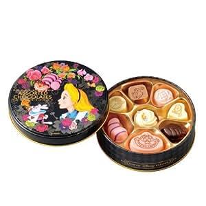 不思議の国のアリス 缶入り アソーテッド・チョコレート 【丸】 お菓子 【東京ディズニーリゾート限定】