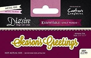 Die'sire 'Essentials Only Words' Collection Cutting Dies - Season's Greetings by Die'sire [並行輸入品]
