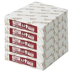 コピー用紙 A4 白色度82% 紙厚0.09mm 2500枚(500×5) 56-001×5