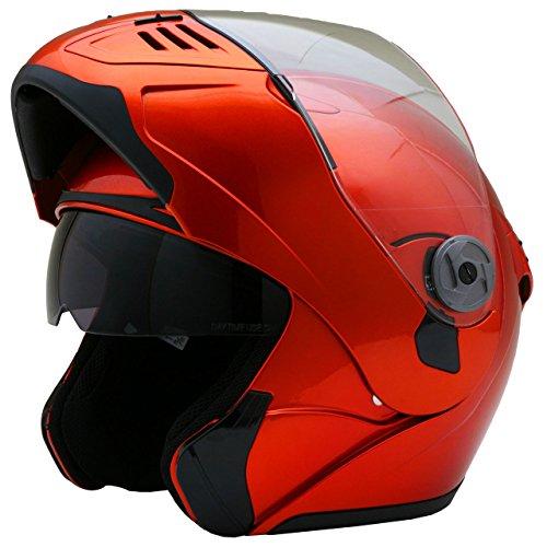 ネオライダース (NEO-RIDERS) FX8 Wシールド フリップアップ フルフェイス ヘルメット メタリックオレンジ XLサイズ 61-62cm未満 SG/PSC FX8