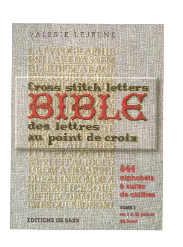 Saxe 「BIBLE DES LETTRES EDITIONS DE SAXE」 クロスステッチ図案集-フランス語