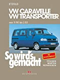 So wird's gemacht. T4: VW Caravelle / Transporter / Multivan / California von 9/90 bis 1/03: Benziner 2,0 l/62 kW (84 PS) 9/90-1/03 bis 2,8 l/150 kW (204 PS) 5/00-1/03. Diesel 1,9 l/45 kW (60 PS) 9/90-7/96 bis 2,5 l/111 kW (150 PS) 4/98-1/03