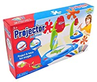 Little Treasures Projector Painting Kit for Kids Educational Learning and Drawing set including a table lamp projection and painting with 3 lantern slides 24 patterns and 12 water pens [並行輸入品]