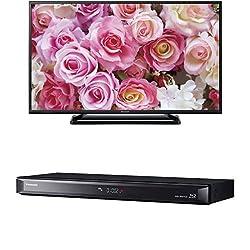 パナソニック 43V型 フルハイビジョン 液晶テレビ VIERA TH-43D305 + 1TB 2チューナー ブルーレイレコーダー 4Kアップコンバート対応 DIGA DMR-BRW1020 セット