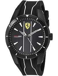 Ferrari ブラック メンズ アナログ カジュアル クォーツ Ferrari フェラーリ Redrev 海外出荷 0830495