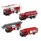 AUBIG 子供のおもちゃ 合金 車 モデルカー トラクター 消防車 工事車両 子供の知育玩具モデル 光と音楽 おもちゃ 車