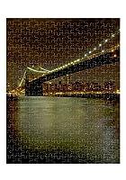 ブルックリン橋とマンハッタンスカイラインジグソーパズル印刷 252 Pieces PUZLCITLI047_R_252P