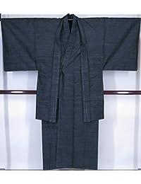 対応身長170cm前後 誂え流れ 未使用品 紳士用 紬アンサンブル 証紙無し 黒