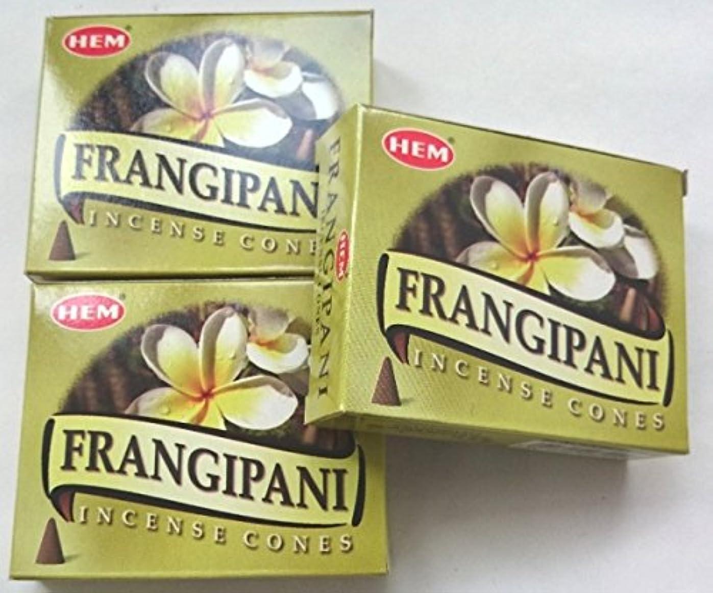 オンスキリマンジャロ成熟HEM(ヘム)お香 フランジパニ コーン 3個セット