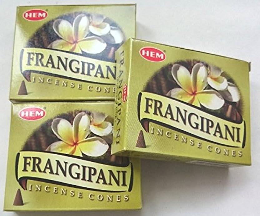 しなやかジャニス必需品HEM(ヘム)お香 フランジパニ コーン 3個セット