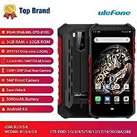 頑丈な携帯電話、Armor X5 IP68防水スマートフォン、Android 9.0 4GデュアルSIMカード5.5インチ8コア3GB + 32GB、5000mAhバッテリー (赤)