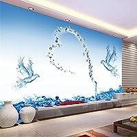 Mingld 大型カスタム壁画ミニマリストモダンなリビングルームのソファーテレビの背景3Dの壁紙3Dの3D壁紙ウォーターローズ-250X175Cm