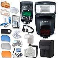 Canonスピードライト470ex-aiフラッシュCanonスピードライトケース+ TTLコード付き+フラッシュLブラケット+フラッシュDiffusers + 4高容量充電式単三電池&充電器+アクセサリバンドル