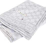 ブルーム 今治タオルブランド認定 タオルケット シングルサイズ クレール 日本製 綿100% コットン グレー アイボリー 北欧 モダン (ライトグレー)