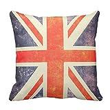 クッションカバー 45×45cm おしゃれ 車用クッション ホーム インテリアー 雑貨ヴィンテージの英国国旗の旗