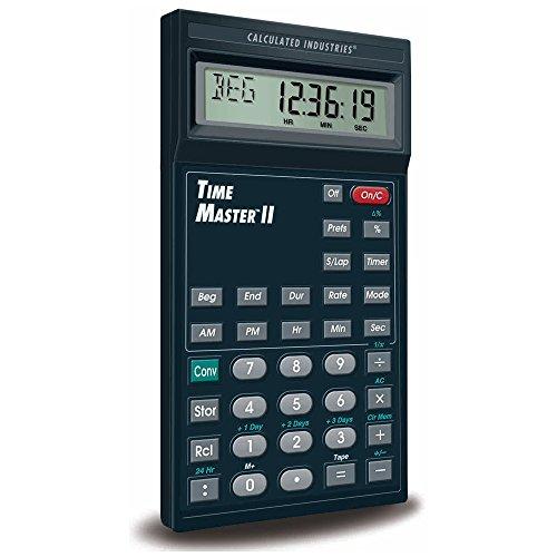 時間計算機 Time Master Ⅱ 編集時間/スケジュール/経過時間の計算が簡単に! タイマーとストップウォッチ機能付き 【日本正規品/日本語説明書/1年保証付き】