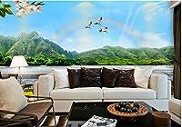 Nevso 3D 壁紙 壁画 ステッカー カスタム 3D 写真 壁紙 レイクサイド 風景 花 鳥 3D 壁紙 自然 不織布 壁紙 ホームデコレーション Nevso182-830260