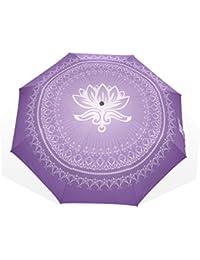 バララ(La Rose) 折り畳み傘 花柄 レディース 軽量 手開き かわいい 紫色 子供 折りたたみ傘 日傘 晴雨兼用 梅雨対策 頑丈な8本骨 遮光 丈夫 耐風 撥水 携帯用 収納ポーチ付き