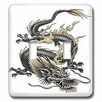 3drose LSP _ 63149_ 2Lucky DragonドラゴンChinese Dragonドラゴンの年Chinese New Year gift idea父の日ダブル切り替えスイッチ
