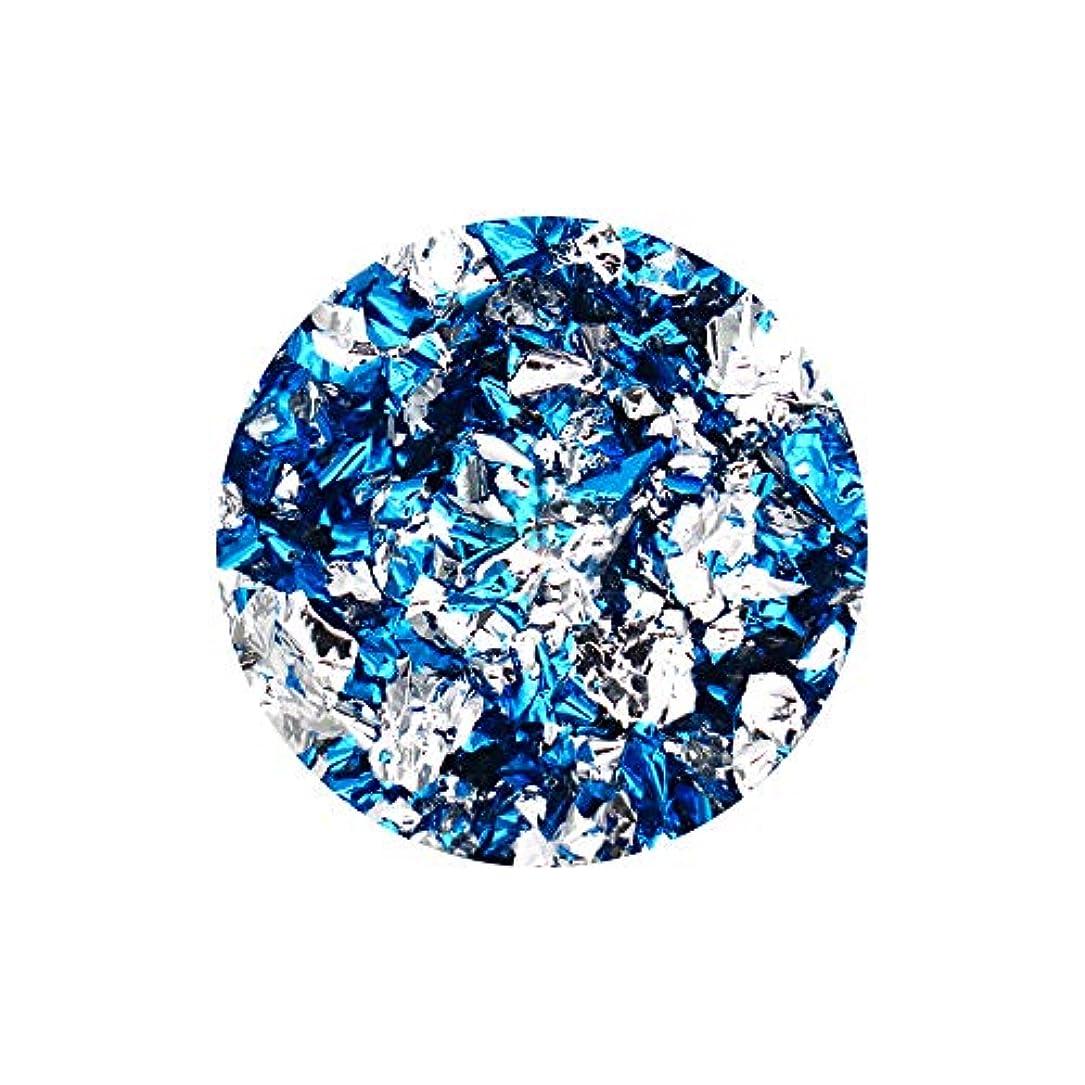 テレビ局気をつけてしかしネイルアート リバーシブルホイル ブルー×シルバー セルフネイル レジン ネイルホイル リバーシブル 両面 ネイルナゲット
