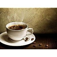 pigbangbang、20.6X 15.1インチプレミアムBasswood明るいカラフルなアート画像Jigsaw Puzzles Cartoon 500Pieceホームdecoration-darkコーヒーカップでGood Morning