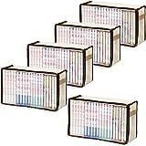 アストロ 本収納ケース 5枚組 新書版サイズ 不織布製 新書版サイズの本を収納するのにピッタリです! 609-02