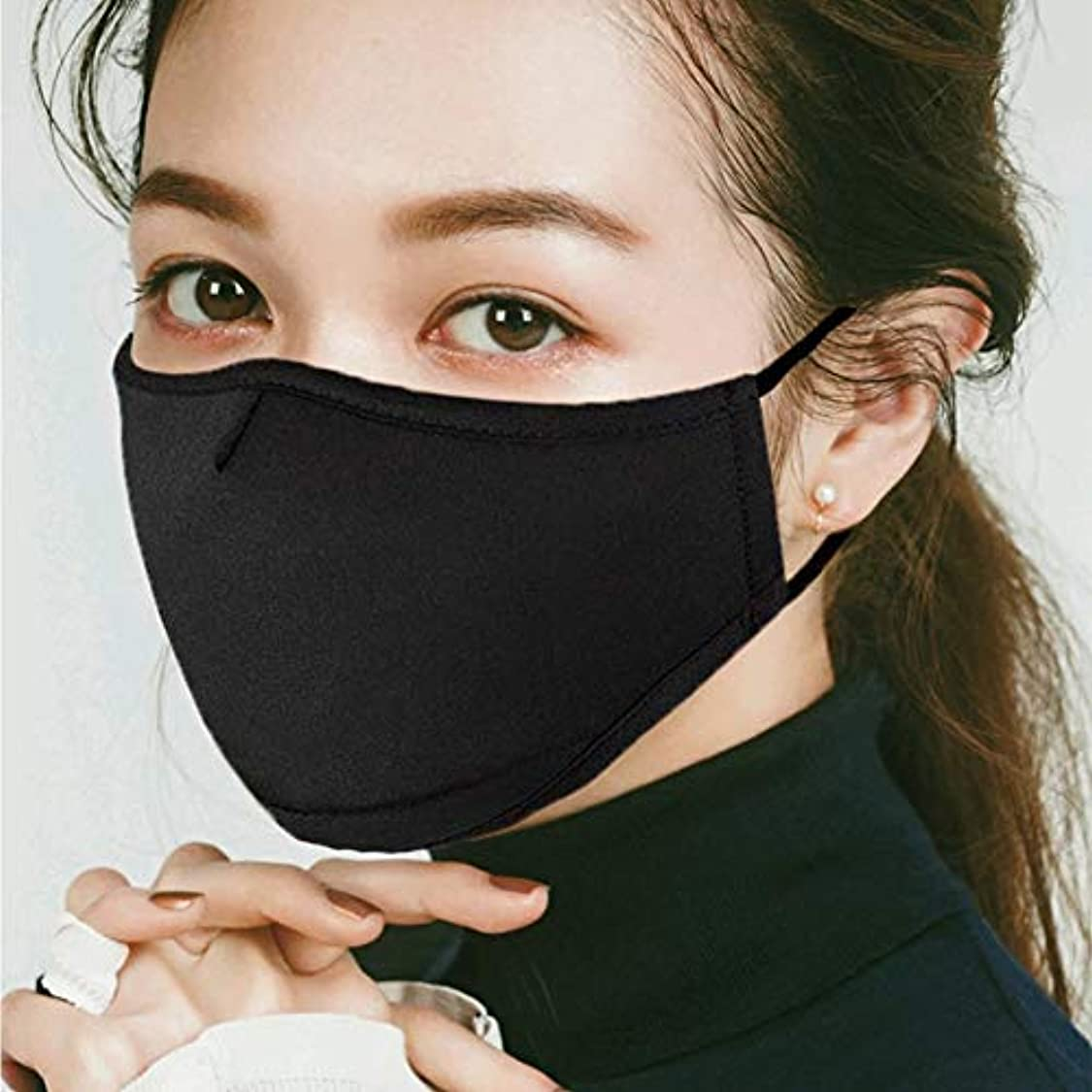 大騒ぎ葡萄成長するマスク 綿 布マスク風邪対策 予防 立体 おしゃれ 調整可能 繰り返し使え