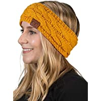 Funky Junque C.C Cable Knit Fuzzy Lined Head Wrap Headband Ear Warmer