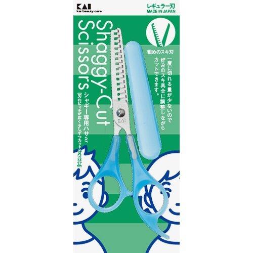 貝印 KQ3048 スキハサミ シャギー用(キャップ付)