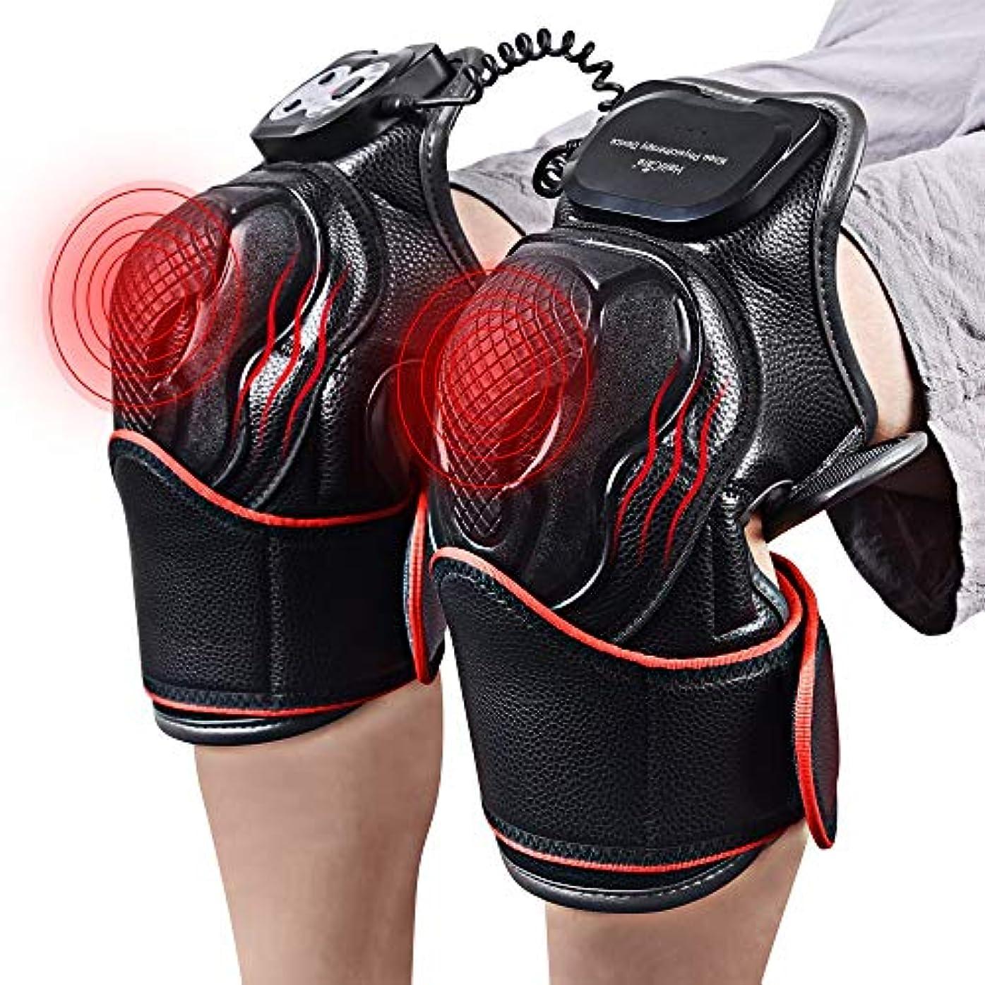 何か文芸到着LLYU 膝磁気振動暖房マッサージジョイント理学療法マッサージ電気マッサージ痛み緩和リハビリ機器ケア