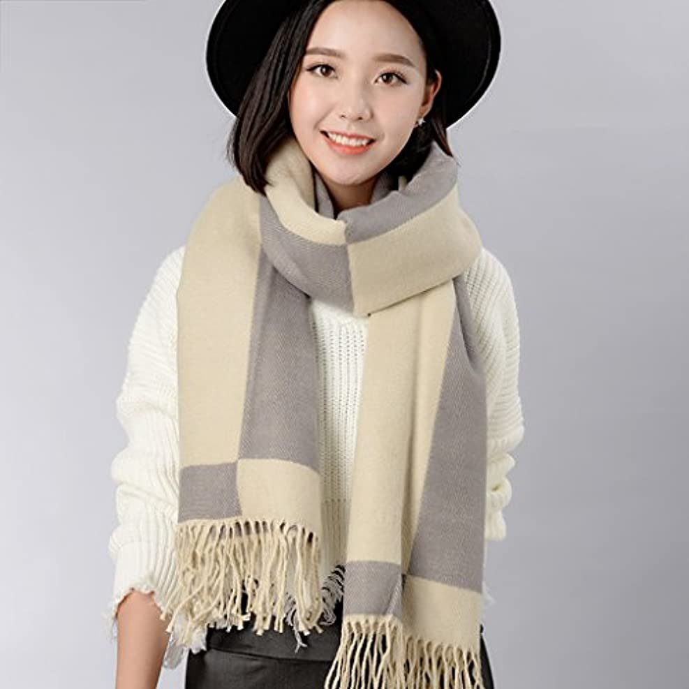 める拳コレクションGAODUZI 冬のスカーフ厚手の両面ソリッドカラーショール ( 色 : E )