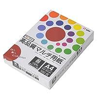 コピー用紙 A4 高品質マルチ用紙 白色度98% 紙厚0.106mm 500枚 インクジェット用紙 PTK001