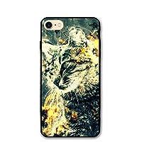 IPhone8 ケース ファンタジーキャット猫プリント アイフォン8 4.7inch おしゃれ 薄型 超軽量 指紋防止 耐衝撃 スマホカバー スマホケース
