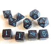 TRPGダイス/サイコロ Speckled Polyhedral(多面体) BLUE STAR 10個セット
