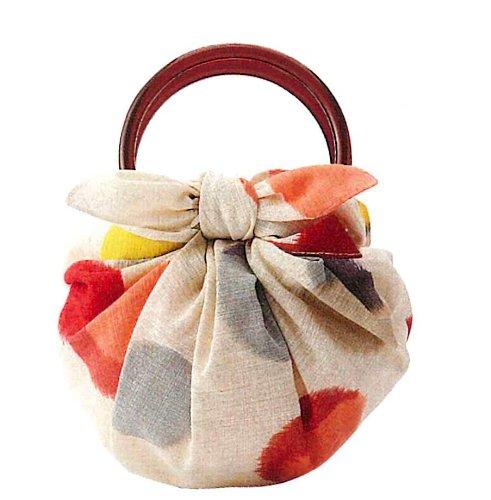 むす美/musubi 風呂敷 綿 モダンガール いちごバッグ 70cm リング付 袋入