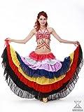 7色シフォンのボリュームスカート ベリーダンス衣装 ステージ衣装 ダンス コスチューム 【c22-am】