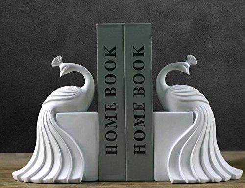 ブックスタンド おしゃれ アメリカ風 アンティーク 収納用 雑貨 小物入れ 展示 孔雀 鳥 黒 飾り物 部屋 本棚 卓上 プレゼント引っ越しお祝い バレンタイン Unusual