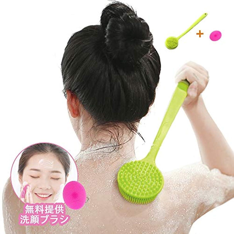 従順な明確な五Newsmy ボディブラシ シャワー お風呂 体洗いブラシ バスブラシ シリコーン 多機能 超柔らかい毛 血行促進 角質除去 洗顔ブラシ