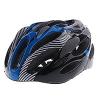 Perfk 超軽量 マウンテンバイク ヘルメット  自転車 ヘルメット アダルト ヘッドプロテクター サイクリング用 全3色 - 青