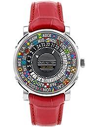 [ルイヴィトン] LOUIS VUITTON 腕時計 Q5D20 エスカル タイムゾーン SS/レッドレザー グレー文字盤 [中古品] [並行輸入品]