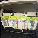 BXT マルチ 車内収納ポケット カーポケット カーシートポケット 大容量 メッシュポケット スッキリ収納 小物収納 雑物整理整頓 後座席掛けバッグ ドライブポケット カーアクセサリ 便利グッズ グリーン