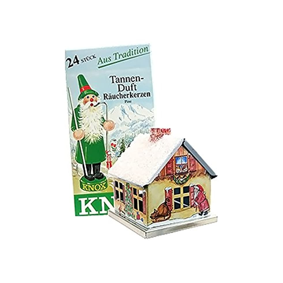 Knox Metal Incense House Christmas Motif 5