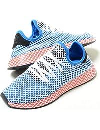 [アディダス] DEERUPT RUNNER ディーラプト ランナー ブルー×レッド ホワイトメッシュ メンズ スニーカー ac8704