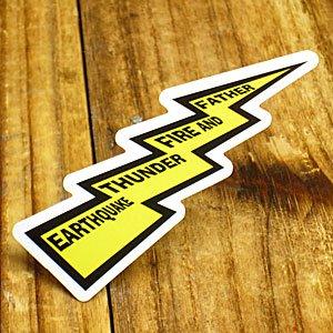 コトワザステッカー PROVERB STICKER 「地震、雷、火事、親爺」_SC-PS159-SXW