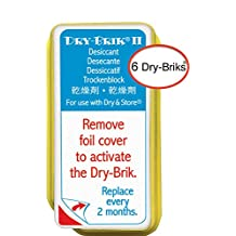 Dry & Store Dry-Brik® Ii Desiccant Blocks - 6 Blocks (2 Packs Of 3 Blocks)| Replacement Moisture Absorbing Block For The Global Ii And Zephyr By | Hearing Device Dehumidifiers
