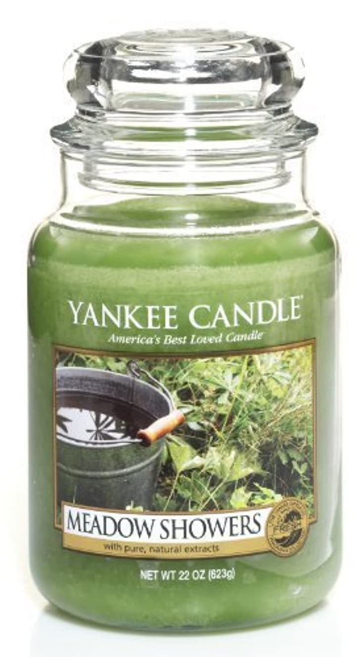 宣言パトワすなわちYankee Candle Meadow Showers Large Jar Candle、新鮮な香り